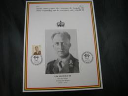 """BELG.1997 Militaire Herdenkingskaart """" LEOPOLD III VETERANEN """" Carte Commémorative Militaire - FDC"""