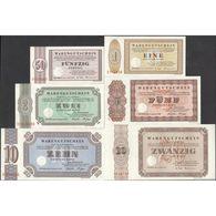 TWN - BETHEL, SAREPTA, NAZARETH - 50 Pfennig, 1-2-5-10-20 Mark 1973 Set Of 6 UNC - Billetes