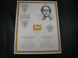 """BELG.1995 Militaire Herdenkingskaart """" LA REINE ASTRID - KONINGIN ASTRID """" Carte Commémorative Militaire - FDC"""