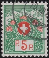 Schweiz  .  Yvert  .   Franchise  10A      .    O     .   Gebraucht     .   /   .    Oblitéré - Postmarks