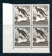 Australia 1959-64 Pictorial Definitives - 9d Kangaroo Block Of 4 MNH (SG 318) - Neufs