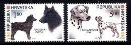 CROATIA 2001 Dogs  MNH / **.  Michel 583-84 - Croatie