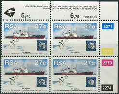 RSA 1991. Michel #829 MNH/Luxe. 30 Years Antarctic Treaty. (Ts25) - Ungebraucht