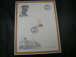 """BELG.1998 Militaire Herdenkingskaart """" ALBERT II """" Carte Commémorative Militaire - FDC"""