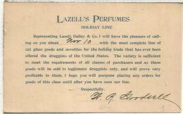 ESTADOS UNIDOS USA 1893 ENTERO POSTAL PUBLICIDAD LAZELL'S PERFUMES DRUG CHEMICAL - Química