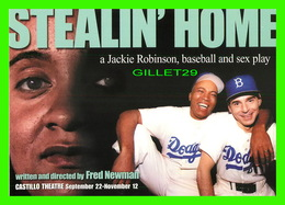 "AFFICHE DE CINÉMA - "" STEALIN'HOME "" - FILM DE FRED NEWMAN - A JACKIE ROBINSON, BASEBALL & SEX PLAY - - Affiches Sur Carte"