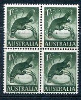 Australia 1959-64 Pictorial Definitives - 1/- Platypus Block Of 4 MNH (SG 320) - Neufs