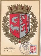 REUNION Carte Maximum Yvert 373 Blason Auch 24/9/1967 - Réunion (1852-1975)