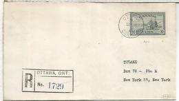 CANADA OTTAWA CC CERTIFICADA 1946 AGRICULTURA AL DORSO LLEGADA NEW YORK - Agricultura