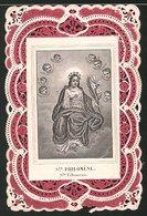 Heiligenbild St. Philomene, Heilige Und Putten, Rückseitig Bibelvers - Andachtsbilder