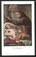 Heiligenbild St. Didacus, Mönch Hilft Einem Kranken - Andachtsbilder