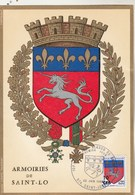 REUNION Carte Maximum Yvert 386 Blason St Lô 22/6/1969 - Réunion (1852-1975)