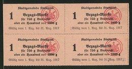 Lebensmittelmarken Stuttgart 1917, Bezugsmarken Für Brotmehl Oder Je Ein Hausbrot - Alte Papiere