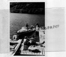 87- SAINT LAURENT LES EGLISES- LE PONT DU DOGNON - BATEAU A MOTEUR M 1261 - RARE PHOTO ORIGINALE - Aviation