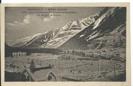 **  CHAMONIX  (  HAUTE-SAVOIE  )  VUE GÉNÉRALE DU STADE OLYMPIQUE   ET AIGUILLE VERTE - Chamonix-Mont-Blanc