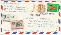 VIETNAM CC A USA CERTIFICADA 1968 AL DORSO LLEGADA - Vietnam