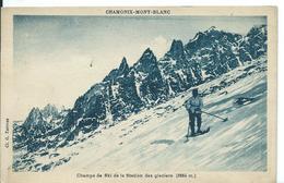 **  CHAMONIX-MONT BLANC   (  HAUTE-SAVOIE  ) CHAMPS DE SKI DE LA STATION DES GLACIERS - Chamonix-Mont-Blanc