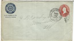 ESTADOS UNIDOS USA 1917 ENTERO POSTAL BRICK COAL GRAVEL CARBON MINERAL - Minerales