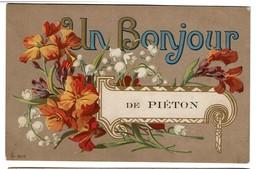 Un Bonjour De Piéton - Circulée - 2 Scans - Chapelle-lez-Herlaimont
