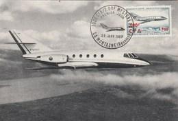 REUNION Carte Maximum Yvert PA 61 Avion Mystère 20 - 29/1/1967 - Lettres & Documents