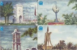 Qatar Q-Tel Phone Cards, Old Paintings, Monuments/Clock Towers Etc., (50 Riyal Each) - Qatar