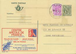BELGIUM BRAINE-LE-CHATEAU 1440 SC 1982 (Postal Stationery 6,50 F + 1 F Damaged Stamp, PUBLIBEL 2764F) - Storia Postale