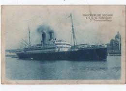 Souvenir De Voyage  S/s G.g Gueydon  Transatlantique - Dampfer