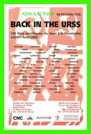 AFFICHE DE CINÉMA - RETROSPECTIVE, BACK IN THE URSS EN 2000 - - Affiches Sur Carte