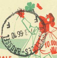 BELGIUM BRUXELLES-BRUSSEL Z X Z + F 4 F + MIDDELKERKE 1966 2 F PUBLIBEL 2048 VARIETY Red Figuere At The Shamrock, RR!! - Stamped Stationery