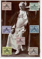 CARTOLINA 1939 RITRATTO PAPA PIO XII CON ANNULLO I° GIORNO - Vaticano