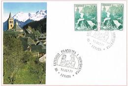 33367. Tarjeta LERIDA 1979, VII Expsicion Filatelica. Iglesia San Felix, Vall D'Aran De VILAC - 1931-Hoy: 2ª República - ... Juan Carlos I