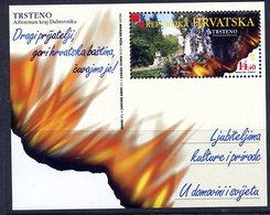 CROATIA 2001 Trsteno Arboretum Block  MNH / **.  Michel Block 19 - Croazia