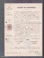 Concession  De Terrain Cimetière  Riedisheim Année 1892 Alsace Cédé Par La France à L'Allemagne Elsass-Lothringen - Historical Documents
