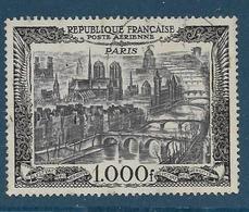 Timbre Oblitéré France, N°29 Yt, Poste Aérienne, Vue De Paris, Notre Dame De Paris - Poste Aérienne