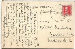 SEGUNDA REPUBLICA TP A BERLIN 1935 CON MAT AMBULANTE MARITIMO - 1931-50 Cartas