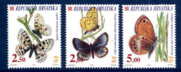 CROATIA 2001 Butterflies  MNH / **.  Michel 573-75 - Croatie
