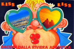 Kiss Kiss Bacioni Dalla Riviera Adriatica - Formato Grande Viaggiata – E 12 - Cartoline
