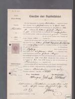 Concession  De Terrain Cimetière  Riedisheim Année 1894 Alsace Cédé Par La France à L'Allemagne Elsass-Lothringen - Historical Documents