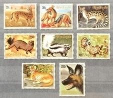 Rwanda 1981; Fauna, Wild Animals; MNH** VF; CV 14 Euro!! - Big Cats (cats Of Prey)