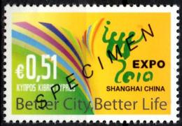 CYPRUS 2004 - 1v - SPECIMEN MUESTRA MUSTER - SHANGHAI EXPO 2010 - China - Universal Expo - 2010 – Shanghai (China)