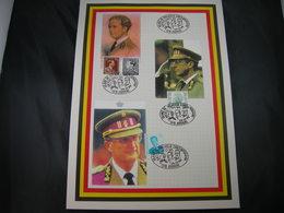 "BELG.1995 Militaire Herdenkingskaart "" Belgium Kings "" Carte Commémorat - FDC"