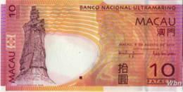 Macau (BNU) 10 Patacas (P80) 2010 -UNC - - Macau
