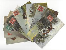 8 CARTES CHIEN DOG CHASSE HUNT /FREE SHIPPING R - Dogs