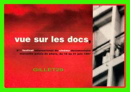 """AFFICHE DE CINÉMA -  8eme FESTIVAL INTERNATIONAL DU CINÉMA DOCUMENTAIRE,"""" VUE SUR LE DOCS """" PALAIS DU PHARO EN 1997 - - Affiches Sur Carte"""