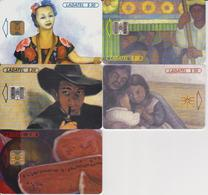 #11 - MEXICO-25 - 5 CARDS DIEGO RIVERA - PAINTING - ART - Mexico