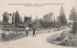 VILLAINES EN DUESMOIS - LES RUINES DE L'ANCIENNE RESIDENCE D'ETE DES DUCS DE BOURGOGNE - PETITE ANIMATION - - France