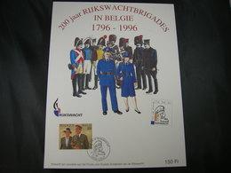 """BELG.1996 Militaire Herdenkingskaart """"Rijkswachtbrigades/Brigades Gendarmerie"""" Carte Commémorat - FDC"""