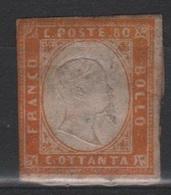 1861 80 C. MLH - Sardegna