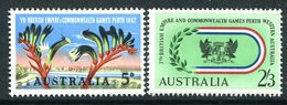 Australia 1962 Seventh British Empire & Commonwealth Games Set MNH (SG 346-347) - Mint Stamps