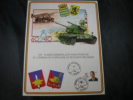 "BELG.1991 Militaire Herdenkingskaart "" 14Artilleriebat./Bat.Artillerie "" Carte Commémorative Militaire - 1991-00"